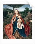 The Virgin and Child in a Landscape by Jan Provoost