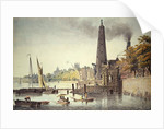 York Buildings, looking towards Westminster, with a View of the Water Tower by James Peller Malcolm