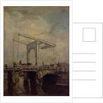 A Drawbridge in a Dutch Town by Jacob Henricus or Hendricus Maris