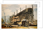 The Great Eastern on the Stocks by English School