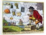 The Stepping Stone, or John Bull peeping into Futurity!!! by English School