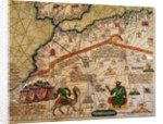 Detail of Copy of a Catalan Map of Europe and North Africa, presented to Charles V of France in 1381 by Abraham Cresques