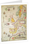 A Generall carde, and description of the sea coastes of Europe, and navigation in this book conteyned by Jodocus Hondius