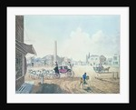 View of London No.2, Entrance of St. George's Road, or the Obelisk Turnpike, with a View of the Royal Circus by English School