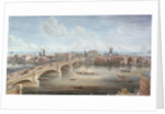 Another View of New London Bridge, showing the West Front, looking towards Southwark, and giving a distant View of Surrey by Gideon Yates