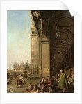 Venice: Piazza di San Marco and the Colonnade of the Procuratie Nuove by Canaletto