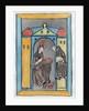 Hildegard of Bingen receiving the Light from Heaven by German School