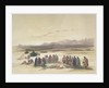 Encampment of the Alloeen in Wady Araba by David Roberts