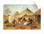 Manufacture of Sugar at Katipo - Making the panellas or pots to contain it by Thomas Baines