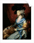 Mrs Sarah Siddons, the actress by Thomas Gainsborough