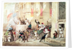 Circus Procession in Italy by Richard Buckner