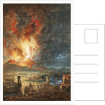 The Great Eruption of Mt. Vesuvius by Louis Jean Desprez