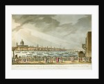 Lord Nelson's funeral procession by water from Greenwich to Whitehall by Joseph Mallord William Turner