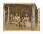 Siva with Siakumu Making Kava in Tofae's House, c.1893 by John La Farge or Lafarge
