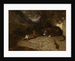 Cat, Weasel, and Rabbit, 1836 by Alexandre Gabriel Decamps