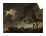 A Storm Behind the Isle of Wight, 1790s by Julius Caesar Ibbetson