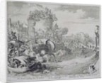 Vienna Print Cycle, Conquering Tabor Island on the Outskirts of Leopoldstadt, 1683 by Romeyn de Hooghe