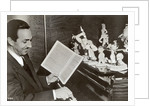 Walt Disney plays piano to a group of figures of Disney characters by German Photographer
