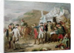 Sketch for the Battle of Yorktown by Louis Charles Auguste Couder