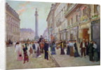 Workers leaving the Maison Paquin, in the rue de la Paix by Jean Beraud