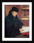 Portrait of Erasmus of Rotterdam by Quentin Massys or Metsys