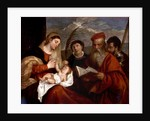Madonna and Child with SS. Stephen, Jerome and Maurice by Titian