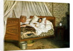 The Improvised Ambulance, The Painter Monet Wounded at Chailly-en-Biere by Jean Frederic Bazille