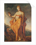 Leto, pregnant with the twins Artemis and Apollo, with the eagle of Zeus at her feet by Hendrik Goltzius
