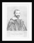 Portrait of Pierre Gassendi by Claude Mellan