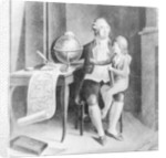 Louis XVI teaching geography to the Dauphin by French School