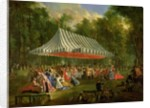 Festival Given by the Prince of Conti to the Prince of Brunswick-Lunebourg at l'Isle-Adam by Michel Barthelemy Ollivier or Olivier