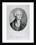 Portrait of Count Joseph de Maistre, engraved by Francois le Villain by Pierre Bouillon