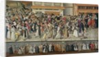 Procession of the Holy League on the Ile de la Cite by French School