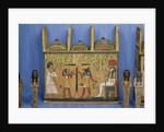 Ushabti casket with a scene of psychostasis, Third Intermediate Period by Egyptian 21st Dynasty