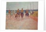 Horseman on the Beach (Hiva Hoa) by Paul Gauguin