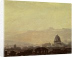 Houses Dominated by a Dome, Rome by Pierre Henri de Valenciennes