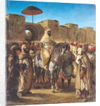 Muley Abd-ar-Rhaman, The Sultan of Morocco, leaving his Palace of Meknes with his entourage by Ferdinand Victor Eugene Delacroix