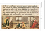 A School Teacher Explaining the Meaning of a Letter to Illiterate Workers by Hans Holbein The Younger