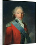 Portrait of Charles of France, Count of Artois, future Charles X King of France and Navarre by Henri-Pierre Danloux