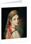 Portrait of a Young Girl in Sarafan and Kokoshnik by Mauro Gandolfi
