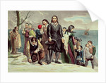 The Landing of the Pilgrims at Plymouth, Massachusetts, December 22nd 1620 by American School