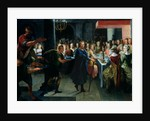 Dice Offering a Banquet to Francus, in the Presence of Hyante and Climene by Toussaint Dubreuil