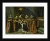 Louis XIII Receiving Henri d'Orleans Duc de Longueville, into the Order of the Saint Esprit by Philippe de Champaigne