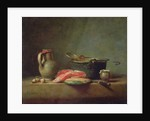 Copper Cauldron with a Pitcher and a Slice of Salmon by Jean-Baptiste Simeon Chardin