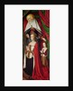 The Bourbon Altarpiece, right hand panel depicting St. Anne presenting Anne of France and her daughter, Suzanne of Bourbon c.1498 by Master of Moulins
