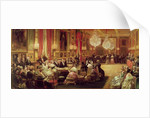 Concert in the Galerie des Guise at Chateau d'Eu by Eugene-Louis Lami