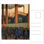 Strike by Boris Mihajlovic Kustodiev
