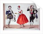 Cherubino, Fanchette and Figaro by French School