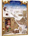 Fol.2v February: Peasant Life by Flemish School