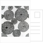 Chrysanthemums, a stencil for printing on cotton by Japanese School